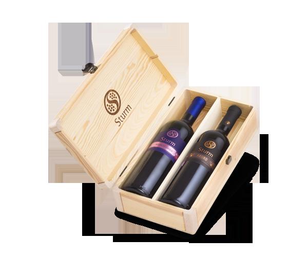 Vina Šturm - lesena embalaža za vino 2 x 1.5L